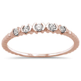 .13ct 14k Rose Gold Diamond Anniversary Wedding Stackable Band Size 6.5