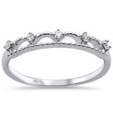 .10ct 14k White Gold Diamond Anniversary Wedding Stackable Band Size 6.5