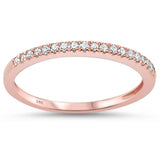 .15ct 14k Rose Gold Diamond Stackable Wedding Anniversary Rinze 6.5