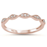 .10ct 14k Rose Gold Stackable Wedding Anniversary Diamond Rinze 6.5
