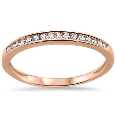 .13ct 14k Rose Gold Diamond Wedding Band Anniversary Ring Size 6.5