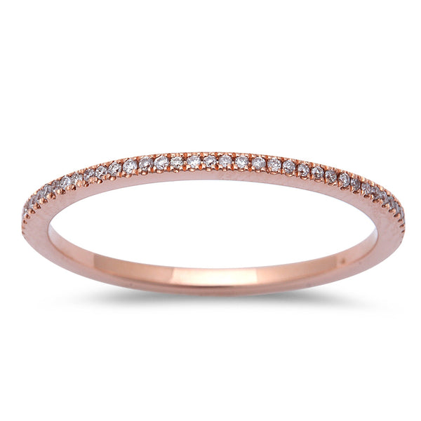 .15ct Diamond 14kt Rose Gold Eternity Wedding Anniversary Band size 6.5