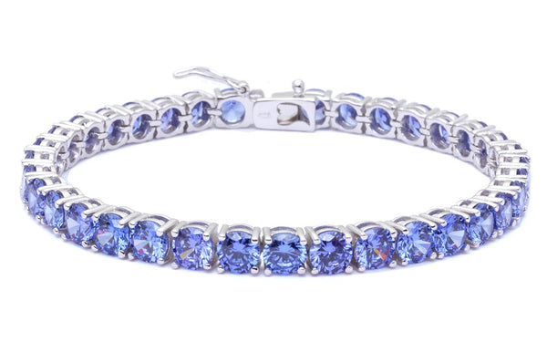 "14.5CT Tanzanite High Fashion .925 Sterling Silver Bracelet 7.5"" long"
