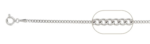 "060-2MM Sterling Silver Curb Chain Made in Italy Available in 7""- 30"" inches"