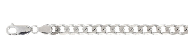 150 6MM Curb Chain .925  Solid Sterling Silver Size 30""