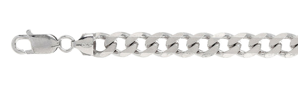 220 9MM Curb Chain .925  Solid Sterling Silver Size 32""