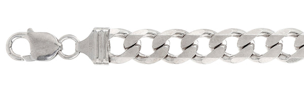 "300-11MM Sterling Silver Curb Chain Made in Italy Available in 16""- 30"" inches"