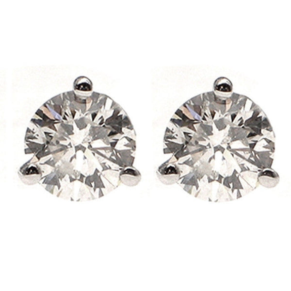 14k Gold 1.15ct G-H SI1-SI2 Round Diamond Martini Style Stud Earrings