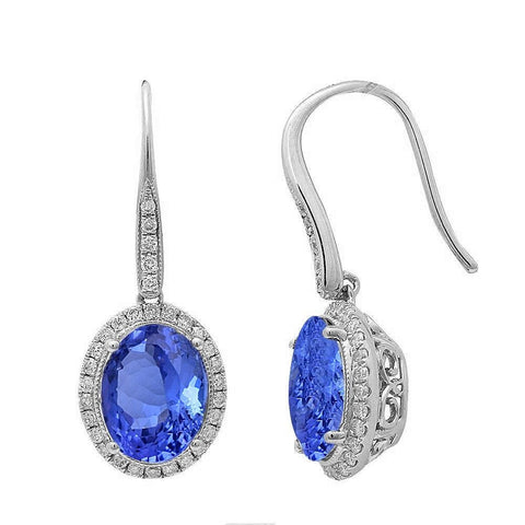 3.55ct Tanzanite & Diamond Earrings