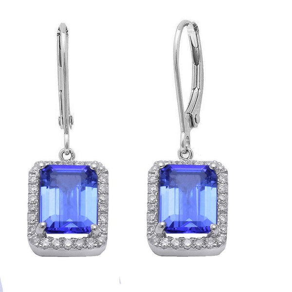 2.51ct Tanzanite & Diamond Earrings