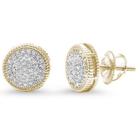 .18ct G SI 14kt Yellow Gold Round Diamond Stud Earrings
