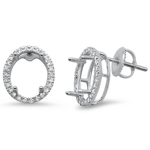 .26ct 14kt White Gold Oval Shape Diamond Earring Mountings