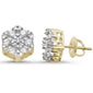 "<span style=""color:purple"">SPECIAL!</span>1.03ct 14k  Gold Diamond Micro Pave Stud Earrings"
