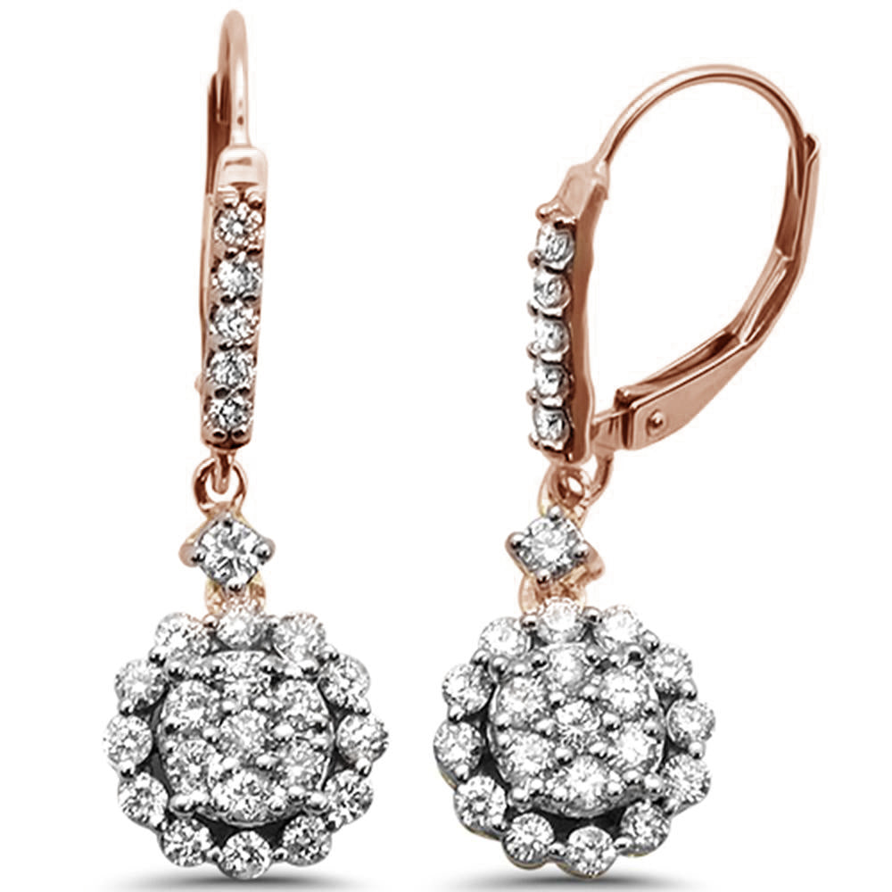 "<span style=""color:purple"">SPECIAL!</span>1.00ct 14k Rose Gold Diamond Drop Dangle Earrings"