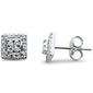 .27ct 14kt White Gold Square Stud Round Diamond Earrings