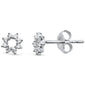 .14ct 14kt White Gold Trendy Flower Cut out cute Stud Diamond Earrings