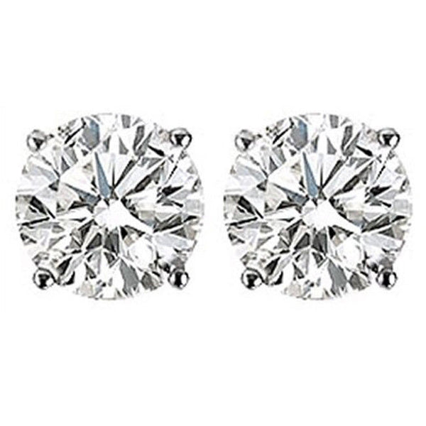 Classic 14k White Gold 0.40CTW G-H VS1-VS2 Diamond Stud Earrings