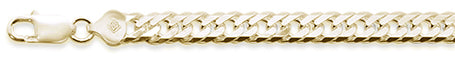 "140 7.5MM DOUBLE Link Yellow gold plated .925 Sterling Silver Chain 8-28"" Available"