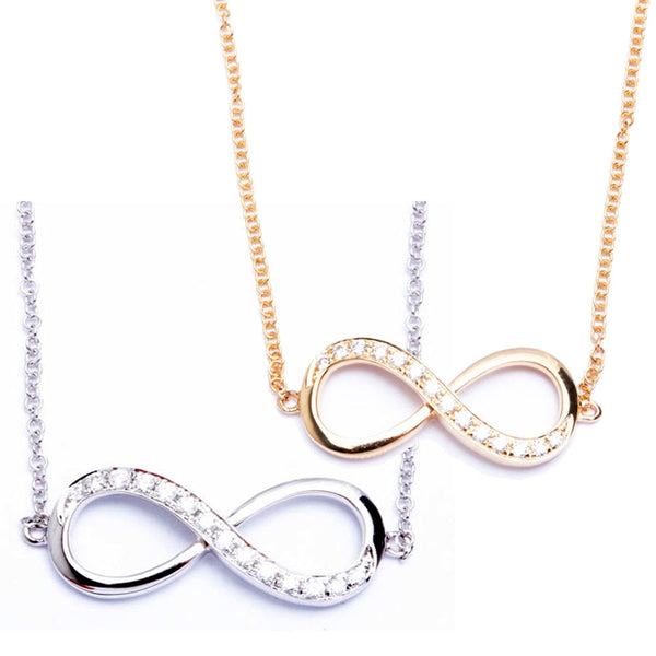 "18"" 14k Gold Infinity Diamond Necklace"