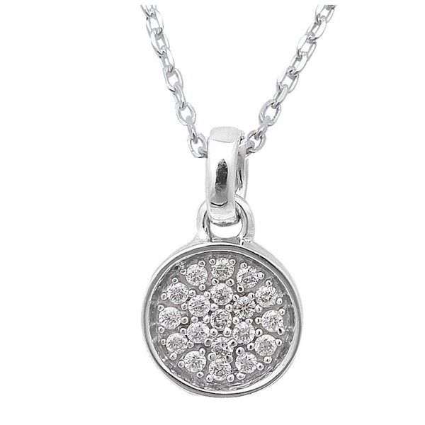 .13CT Round Diamond Solitaire Pendant 14kt White Gold