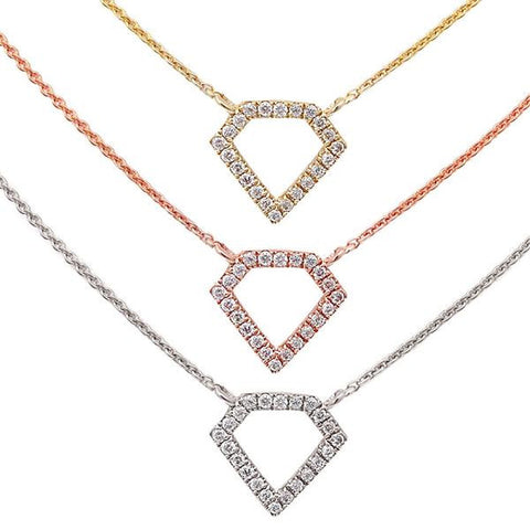 .06ct Diamond of Diamonds 14kt White, Yellow or Rose Gold Necklace 17 inches Long