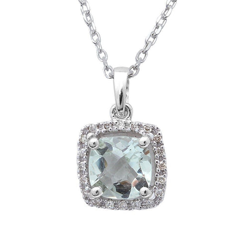 <span>GEMSTONE CLOSEOUT! </span>.99ct Green Amethyst & Diamond Pendant