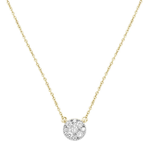 ".41cts 14kt Yellow Gold Round Diamond Solitaire Pendant Necklace 18"" Long"