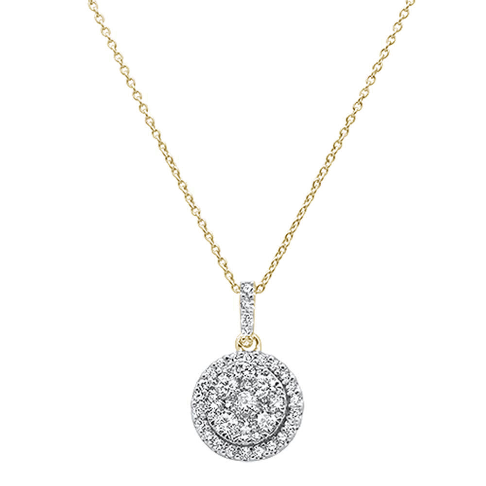 "<span style=""color:purple"">SPECIAL!</span>1.01ct 14k Yellow Gold Round Diamond Designer Solitaire Pendant Necklace 18"