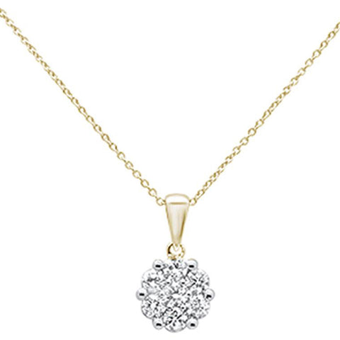".80cts 14k Yellow Gold Round Diamond Solitaire Pendant Necklace 18"" Long"