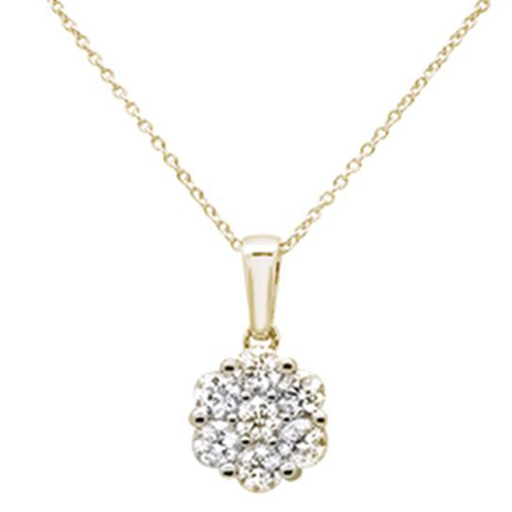 "<span style=""color:purple"">SPECIAL!</span>1.03ct 14k Yellow Gold Diamond Solitaire Pendant Necklace 18"" Long"