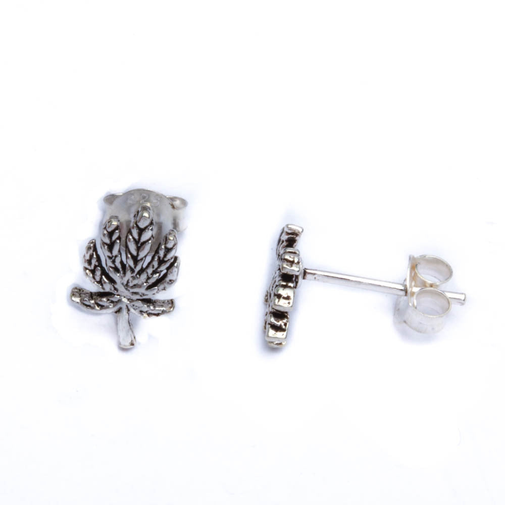 Solid Tree .925 Sterling Silver Earrings