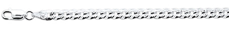 "100-4.8MM Flat Pave Curb Chain .925 Solid Sterling Silver Available in 8""- 30"" inches"