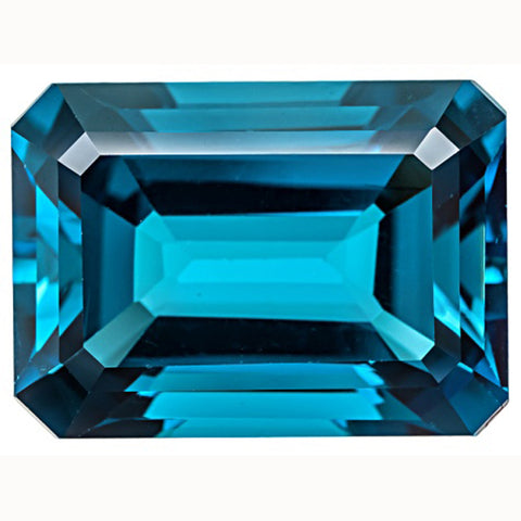 Click to view Emerald Cut London Blue Topaz loose Gemstones variation