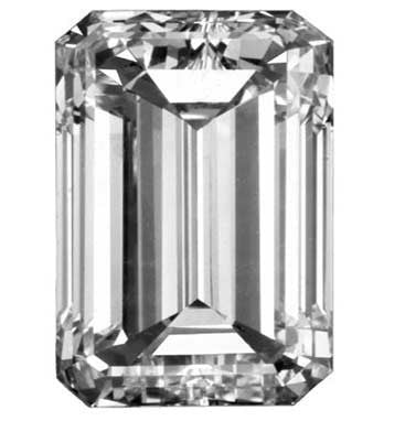 1.25CT J VS1 EMERALD CUT LOOSE NATURAL DIAMOND