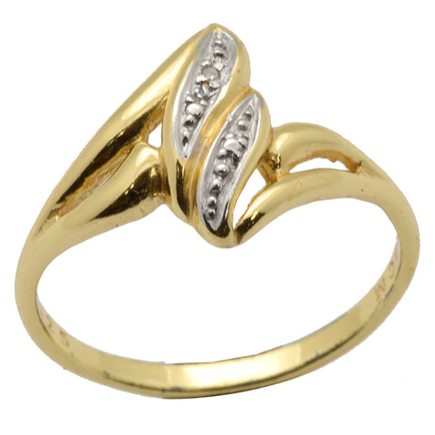 LICENSED PRODUCTS--Sterling Silver 10k Gold Plated Diamond Accent Ring Size 8