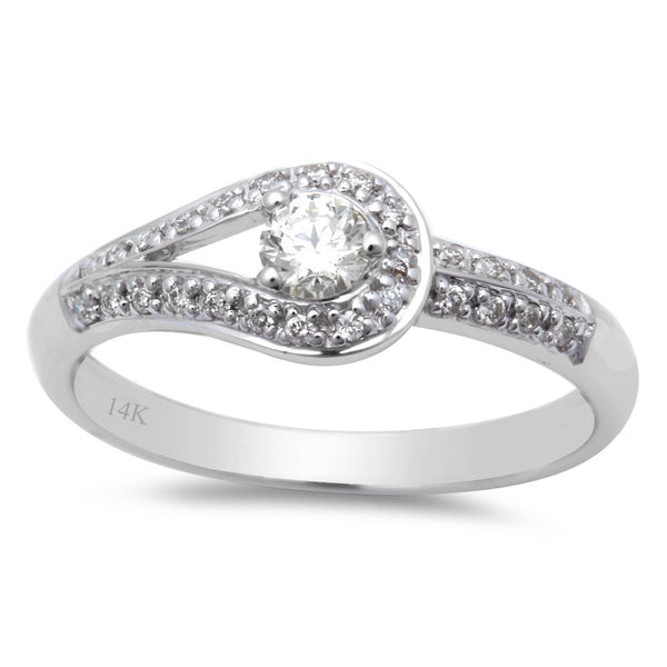 .27ct Round Diamond Solitaire Engagement Promise Ring 14kt White Gold Size 6.5