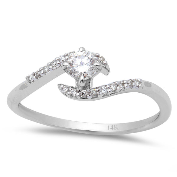 .24cts Round Diamond Solitaire Engagement Promise Ring Size 6.5