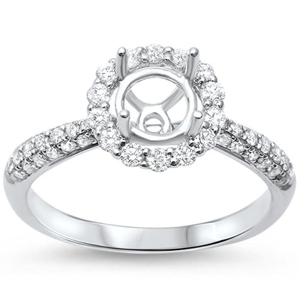 .54cts F-VS2 Round Diamond Semi Mount Engagement Ring Size 6.5