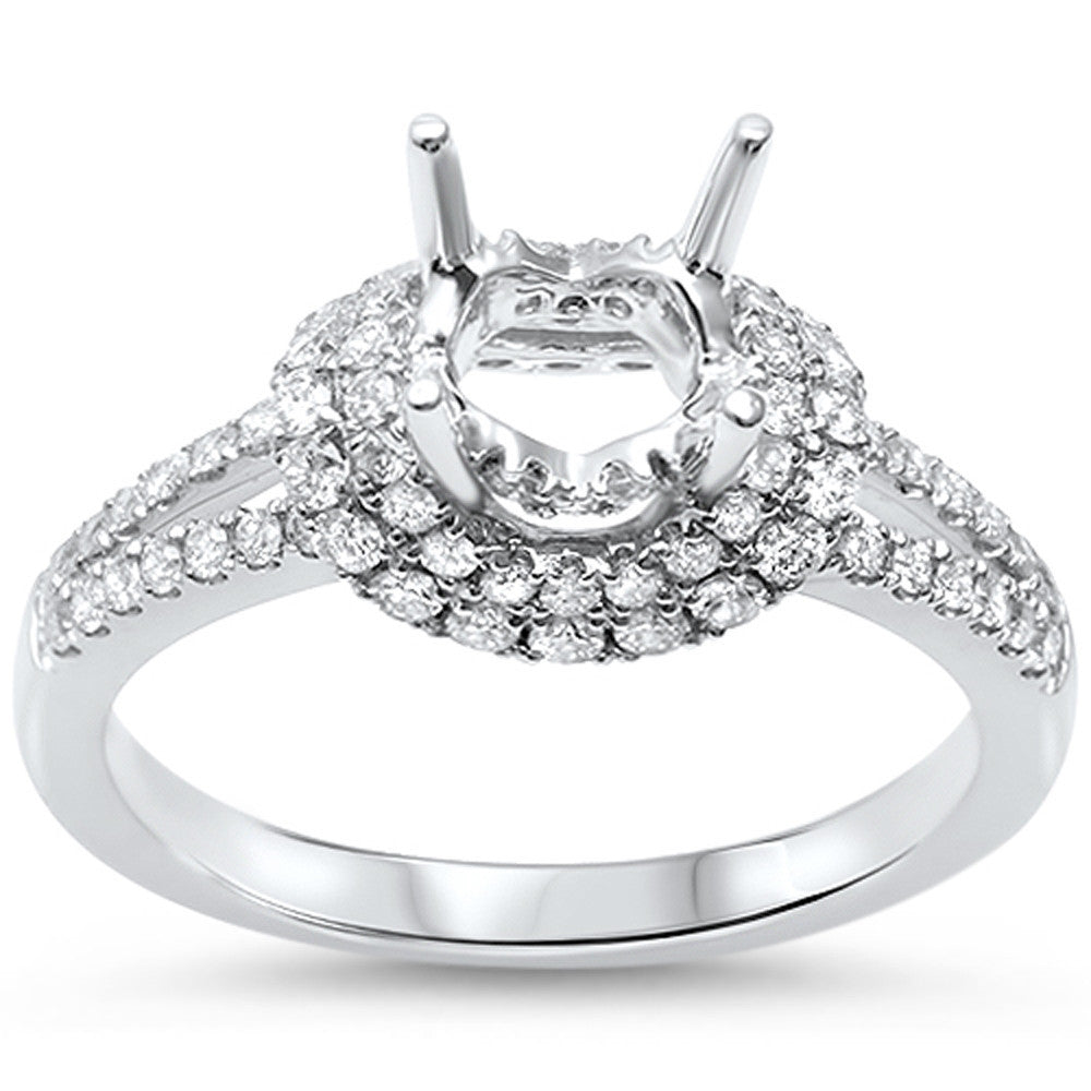 .55cts F-VS2 Round Diamond Semi Mount Engagement Ring Size 6.5