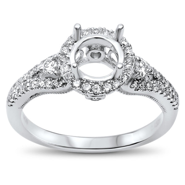 .43cts F-VS2 Round Diamond Semi Mount Engagement Ring Size 6.5