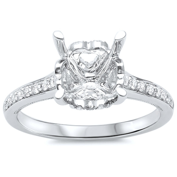 .24cts F-VS2 Round Diamond Semi Mount Engagement Ring Size 6.5
