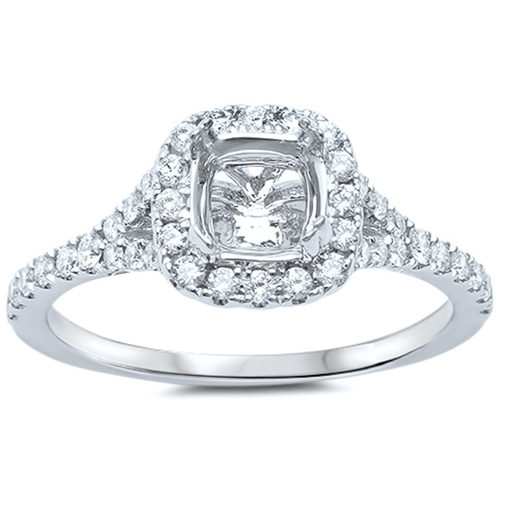 .38cts Princess Cut Diamond Semi Mount Engagement Ring Size 6.5