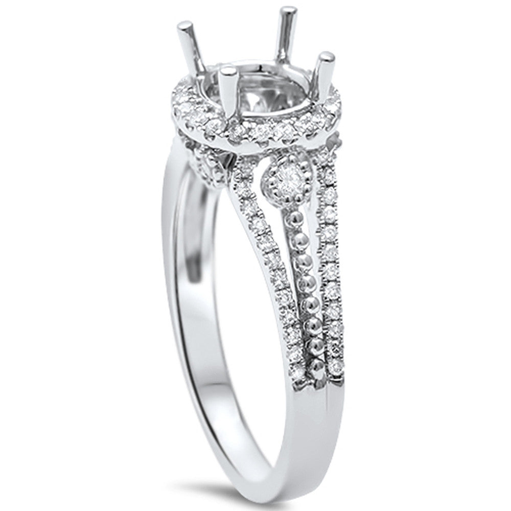 .38cts F-VS2 Round Diamond Semi Mount Engagement Ring Size 6.5