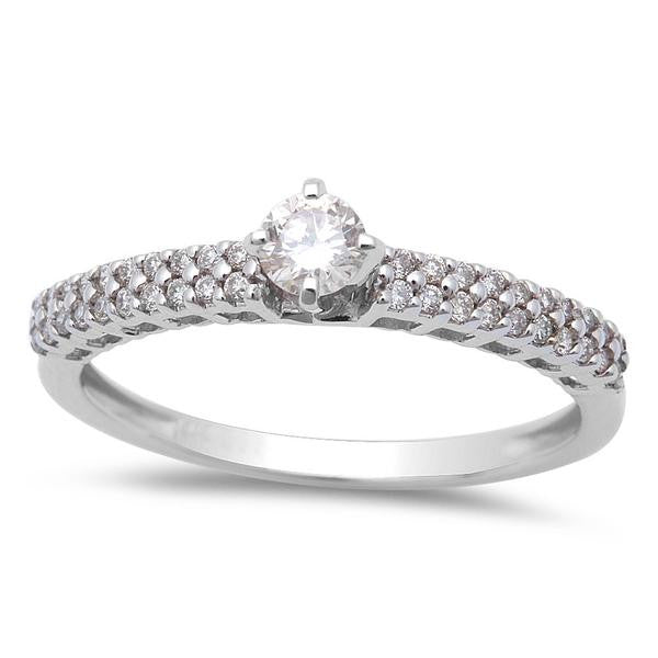 .30cts Round Diamond Solitaire Engagement Promise Ring Size 6.5