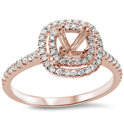 .30cts F SI 14kt Rose Gold Round Diamond Semi Mount Engagement Ring Size 6.5