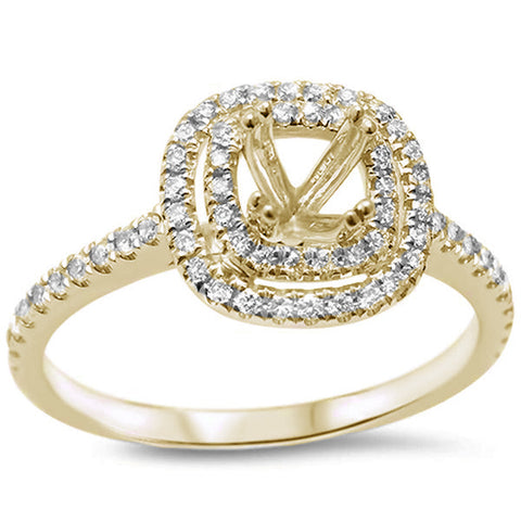 .30cts F SI 14kt Yellow Gold Round Diamond Semi Mount Engagement Ring Size 6.5