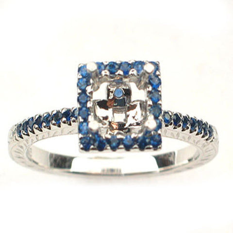 <span>GEMSTONE CLOSEOUT! </span>  Diamond Semi Mount Ring