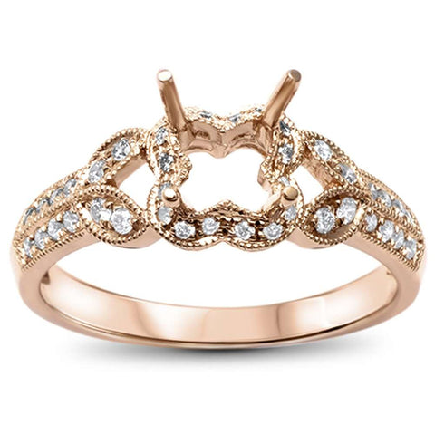 .21ct F SI 14kt Rose Gold Diamond Semi Mount Ring Size 6.5
