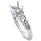 .10ct F SI1 14k White Gold Diamond Semi Mount Ring Size 6.5
