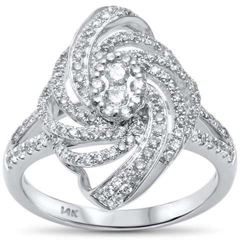 .70ct F VS2 14kt White Gold Diamond Cocktail Ladies Ring Size 6.5